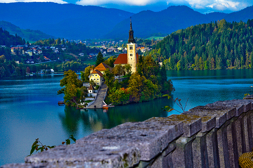 Bled-island-view