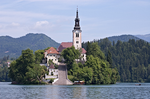 Island on the Lake Bled
