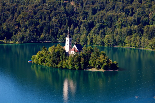 Lake Bled Island View